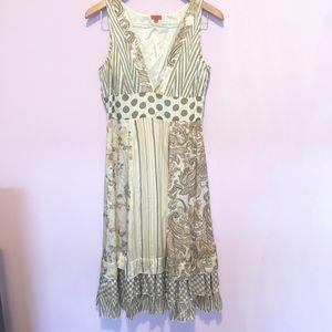 Anthropologie Chan Luu Floral Silk Babydoll Dress